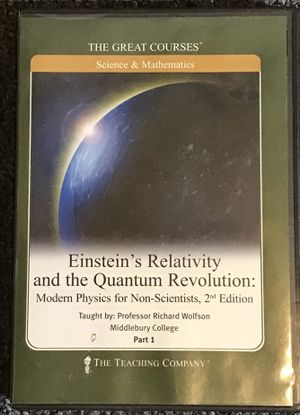 Einstein's Relativity and the Quantum Revolution: Modern Physics for Non-scientists Part 1 (The Great Courses by the Teaching Company) ISBN-13: 97815 for Sale in Oakland Park, FL