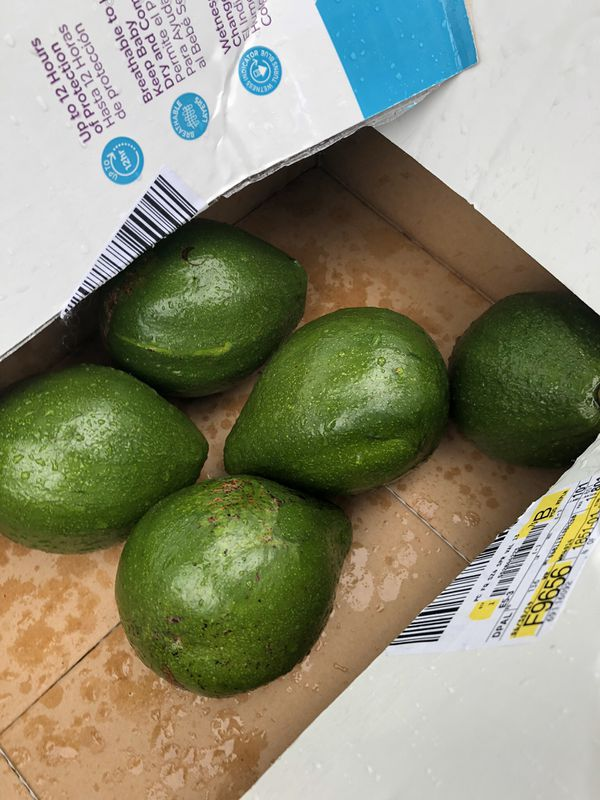 2 Organic Fresh Avocados
