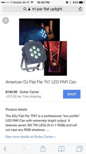 Par flat uplights - DJ for Sale in Gaithersburg, MD