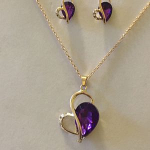 14K Gold Plated Love Heart Jewelry Set for Sale in Orlando, FL