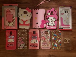Assorted hello kitty my melody little twin star phone cases wallets Samsung Galaxy s7 s6 for Sale in Houston, TX