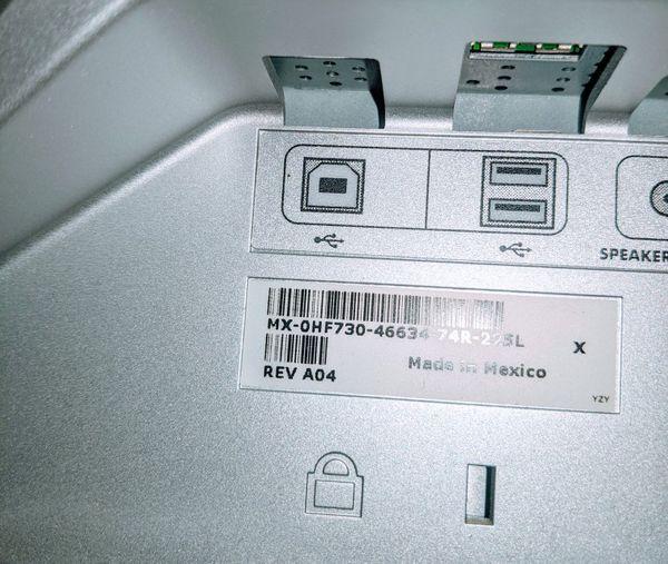 Dell UltraSharp 2007WFPb 20-inch Flat Panel LCD Monitor MX-0HF730 DEFECTIVE SCREEN