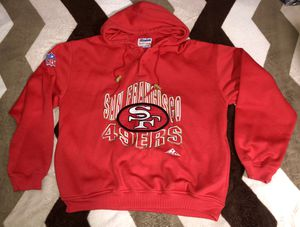VINTAGE 90's SAN FRANCISCO 49ERS HOODIE APEX ONE JACKET PRO LINE NFL SZ LARGE for Sale in Cerritos, CA
