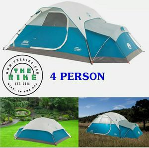 Coleman Juniper Lake Instant Dome Tent with Annex for Camping 4-Person, Blue for Sale in Phoenix, AZ