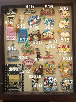 Various disney collectible pins for Sale in Arlington Heights, IL