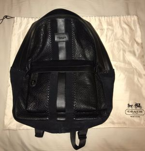 Coach Black leather backpack! Bookbag! Brand new!! for Sale in Tampa, FL