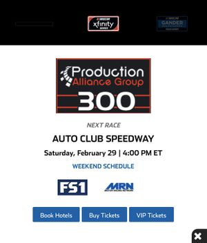 *4* NASCAR tickets Feb 29 for Sale in Fontana, CA