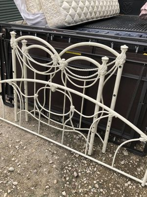 Lovely iron single bed with 2 mattress for Sale in The Woodlands, TX