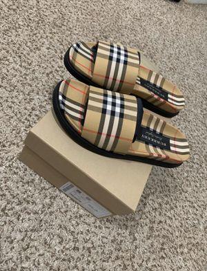 Burberry Men Ashmore Check Slide Sandal Size 8US/41EUR for Sale in Wildomar, CA
