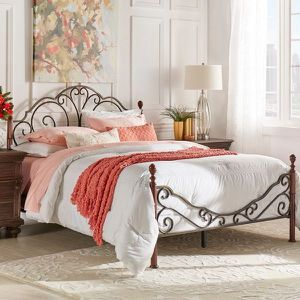 LeAnn Graceful Scroll Bronze Iron Bed by iNSPIRE Q Classic - Queen for Sale in Seattle, WA