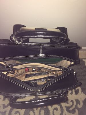 Leather rolling bag...laptop bag for Sale in McDonough, GA