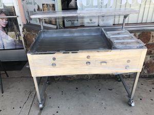 Carrito de tacos con plancha gruesa 20x36 y tres charolitas y mesa arriba listo para tus tacos 🌮🌮🌮🌮🌮🌭🌭🌭🌭🍔🍔🍔🍔 for Sale in Lemon Grove, CA