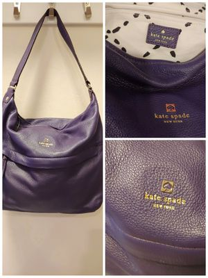 Kate Spade Purple leather hobo bag ca57710 for Sale in Columbus, OH
