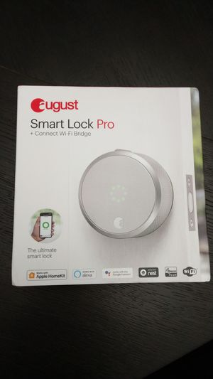 August smart Lock pro + connect bridge latest gen (3rd) BRAND NEW UNOPENED for Sale in Ashburn, VA