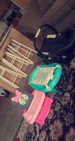 Baby stuff also have a floor mat for baby girl ND bag if baby girl ND baby girl clothes asking 60$ for Sale in San Antonio, TX