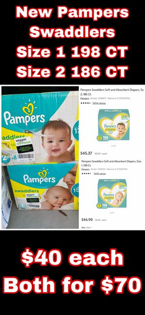 Size 1 and size 2 Pampers for Sale in Bakersfield, CA