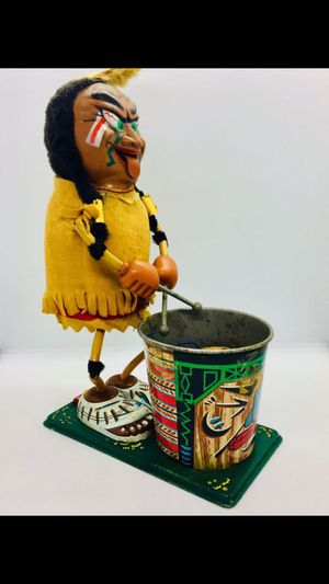 Vintage Tin Native American Dummer Toy for Sale in St. Pete Beach, FL