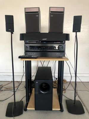 Bose and Onkyo Complete 3D/HD Home Theater Surround set w/ Sony 3D Blu-ray/DVD/CD Player w/ remote for Sale in Phoenix, AZ