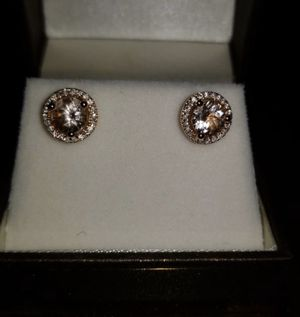 Morganite/ Diamond earrings. for Sale in Pleasant Hill, CA