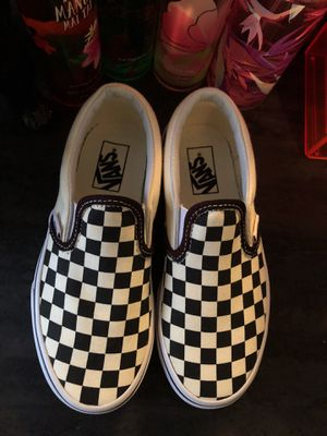 Kids checkerboard slip-on vans size 13.5 for Sale in Knoxville, TN