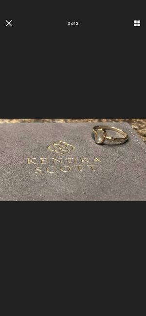 Kendra Scott Chastain Ring In Rainbow Moonstone And 14k Gold for Sale in Hutto, TX