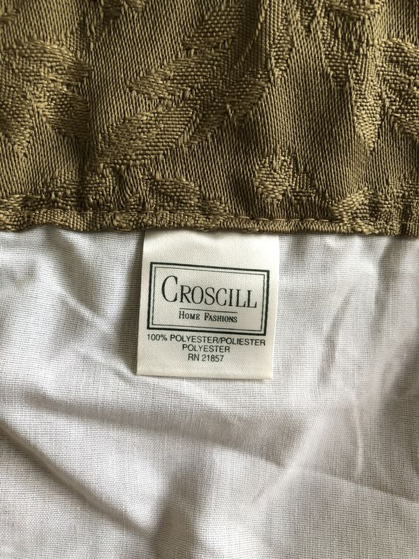 2 PAIRS CROSCILL ROD POCKET DRAPES W/ TIE BACKS