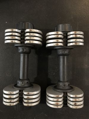 Adjustable dumbbells 5-25 lbs each side for Sale in Kent, WA