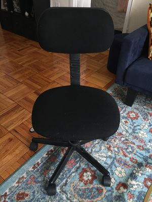 Small black rolling office chair for Sale in Washington, DC
