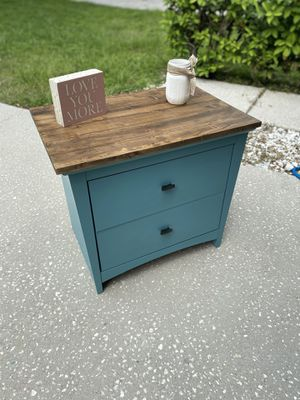 Farmhouse teal side table end table for Sale in Zephyrhills, FL