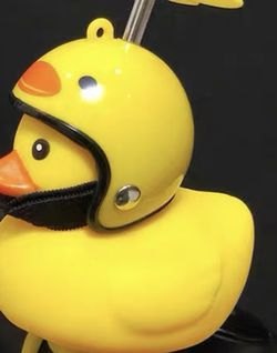 Riding Buddy Yellow Ducky with helmet! Motorcycle/Bicycle handle bars for Sale in Pomona,  CA