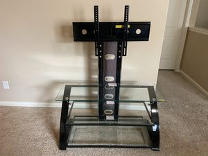ZLine TV entertainment stand with glass selves for Sale in Austin, TX