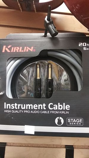 Kirlin 20ft/6m Instrument Cable Stage Series for Sale in Downey, CA