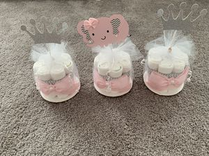 Baby girl Diaper Cakes for nursery decor or baby shower for Sale in North Andover, MA