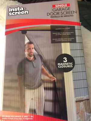 Single garage door screen for Sale in Fontana, CA