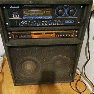 Karaoke Con 500 Watts Integrado De Fuerza Pero Sirve Para Tocar Bass Guitarra for Sale in Menifee, CA