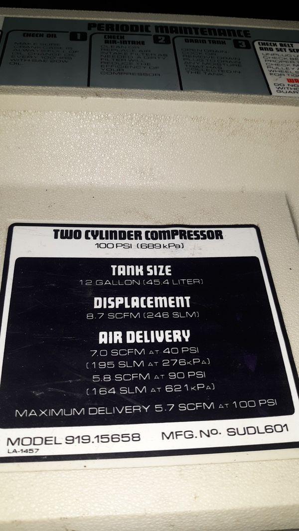 Craftsman Air compressor 12gallon