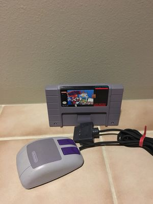 Mario paint and mouse for Super Nintendo for Sale in Lynnwood, WA