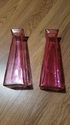 Pink vases for Sale in Lake Villa, IL