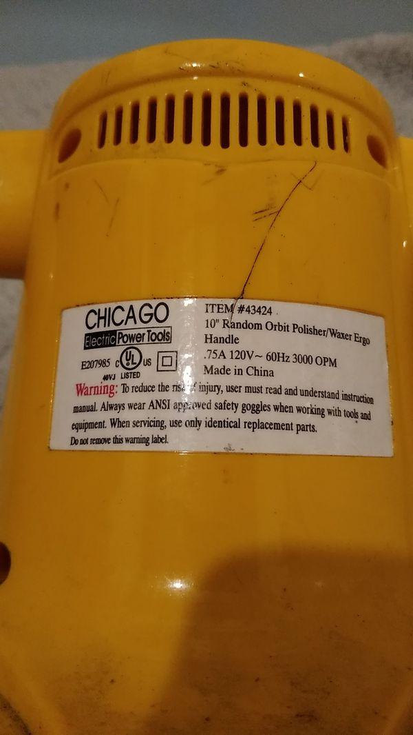 """Chicago electric power tools. 10"""" polisher."""