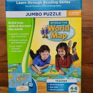 Leap Frog Jumbo Puzzle Interactive World Map-New for Sale in Stuart, FL