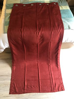 """Four burgundy red curtains (87"""" x 42"""" each) for Sale in Irvine, CA"""