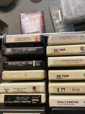 Various 8 tracks 18 total don't have a player to see if work all 18 8tracks with case $10 will only be available for a week then trashed for Sale in Allentown, PA
