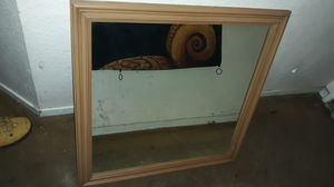 Heavy mirror in wooden frame for Sale in Moreno Valley, CA