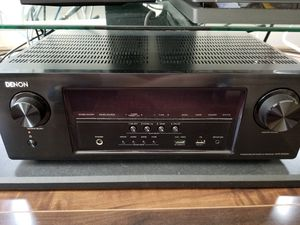 Total home theater. Denon AVR, Klipsch quintet 5.0. Large subwoofer, rocketfish wireless receiver for rear speakers for Sale in Dallas, TX