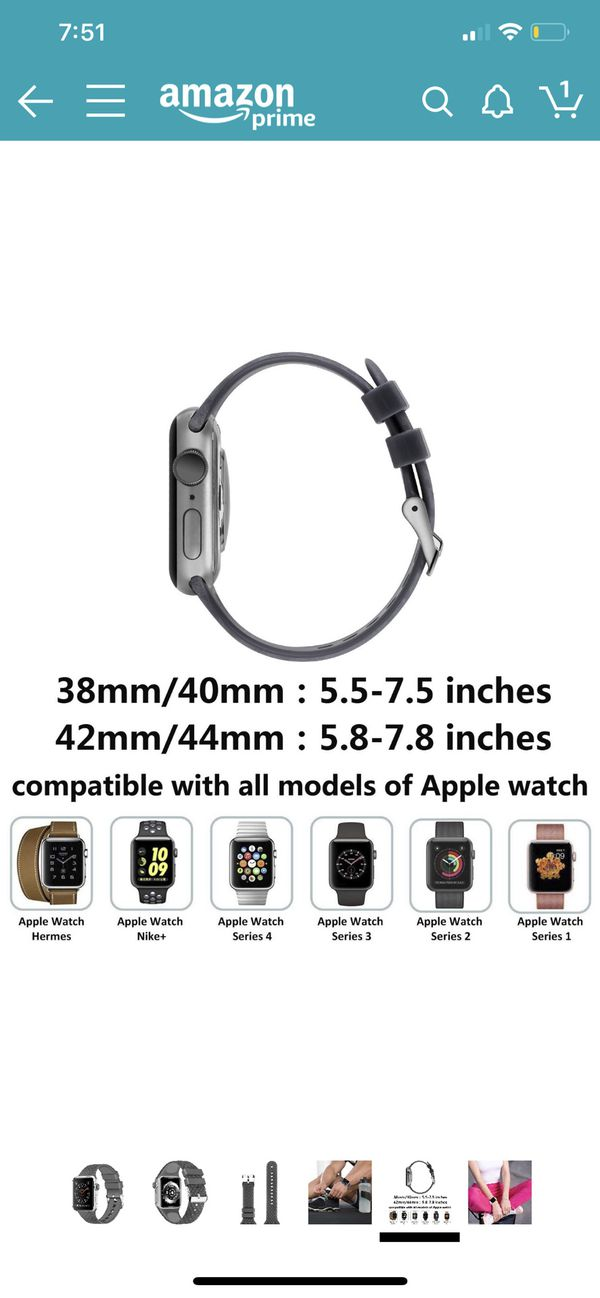 Apple Watch Band 38mm / 40mm Series 1 2 3 4, 38 40 mm, Soft Rubber Sport Fan Wristbands iwatch