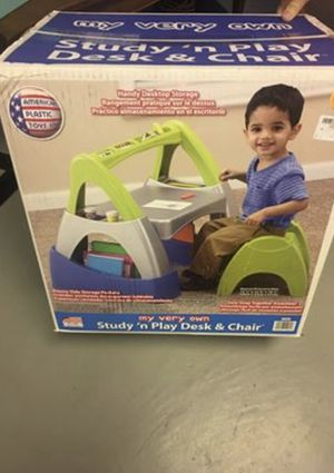 Kids plastic desk and chair for Sale in Stamford, CT