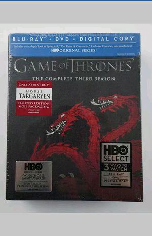 Game of Thrones Season 3 Blu-ray & DVD Targaryen Slipcover Best Buy Exclusive Brand New DIGITAL HD CODE Third for Sale in San Fernando, CA
