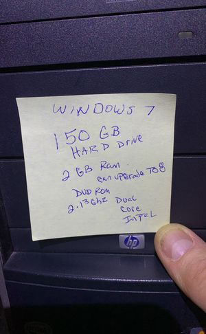HP desktop computer with wall hanging monitor for Sale in Randallstown, MD