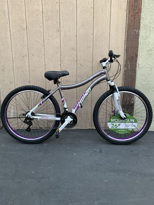 "ALL ALUMINUM WOMENS 26"" GENESIS MOUNTAIN BIKE BRAND NEW WITH FRONT DISC BRAKE 21 SPEED EXTRA CUSHIONED SEAT 😍🔥 for Sale in Buena Park, CA"