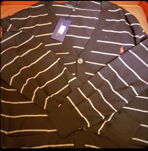 Ralph Lauren Polo Navy Blue with stripes Cardigan. Size XL. for Sale in Cleveland, OH